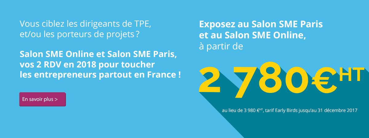 Salon sme ex salon des micro entreprises les 25 et 26 septembre 2017 paris - Salon des micro entreprise ...